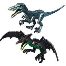 Юрский реалистичный набор летающих крыльев динозавров игровой набор ABS строительные блоки детские игрушки Совместимые игрушки Legoingly