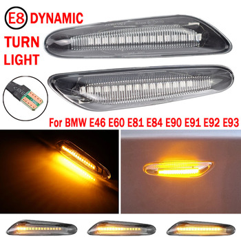 2 pieces Led Dynamic Side Marker Turn Signal Light Indicator Blinker Lamp Signal Lamp For BMW E90 E91 E92 E93 E60 E87 E82 E46 image