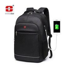 Ładowanie USB nastolatki szkolne torby dla nastoletnich chłopców plecak mężczyźni nylon czarna porządna wysokiej jakości uczeń tornister styl Preppy