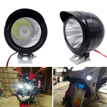 Motorcycle Headlights LED Metal 3W Round Spotlights Electric Car Fog Light Styling 400LM Vehicle Lighting