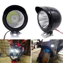 купить Motorcycle Headlights LED Metal 3W Round Spotlights Electric Car Fog Light Car Styling 400LM Vehicle Lighting дешево