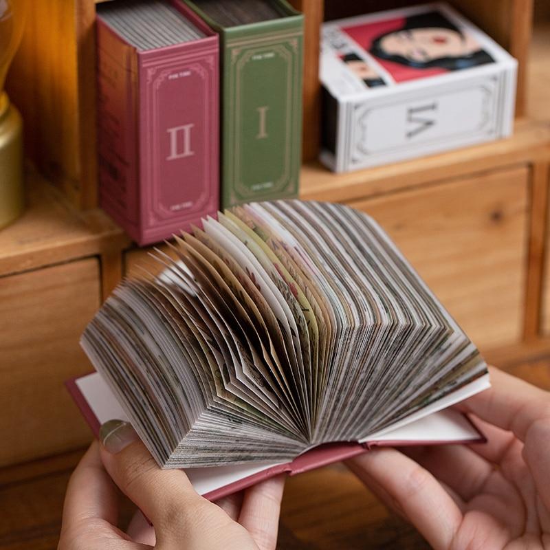 400 pcs Vintage INS Material paper Retro Flowers Plant Decorative LOMO card DIY Diary Album Stationery Mini books Craft Supplies