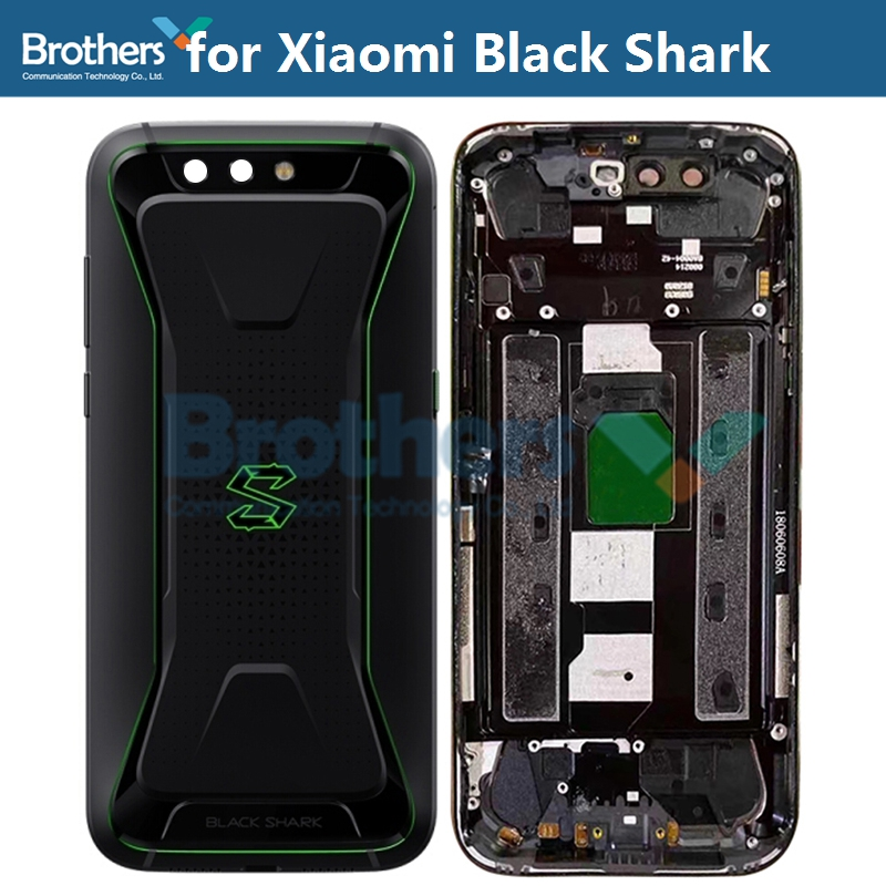 Original for Xiaomi Black Shark BlackShark Battery Housing Battery Door with Camera Lens Glass Back Cover Rear Housing Repair