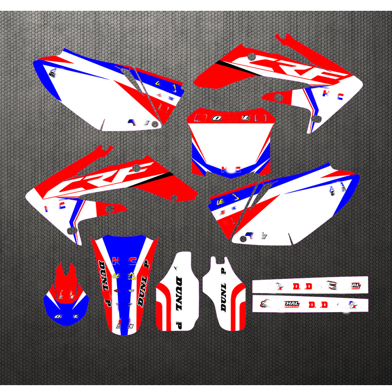 04-09 For Honda CRF 250 CRF250R Free Customized Motorcycle Sticker Decals Graphic Kit CRF250 2004 2005 2006 2007 2008 2009