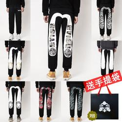 2020 Evisu новые мужские повседневные штаны, вельветовые Теплые дышащие спортивные штаны, мужские повседневные брюки, парные брюки