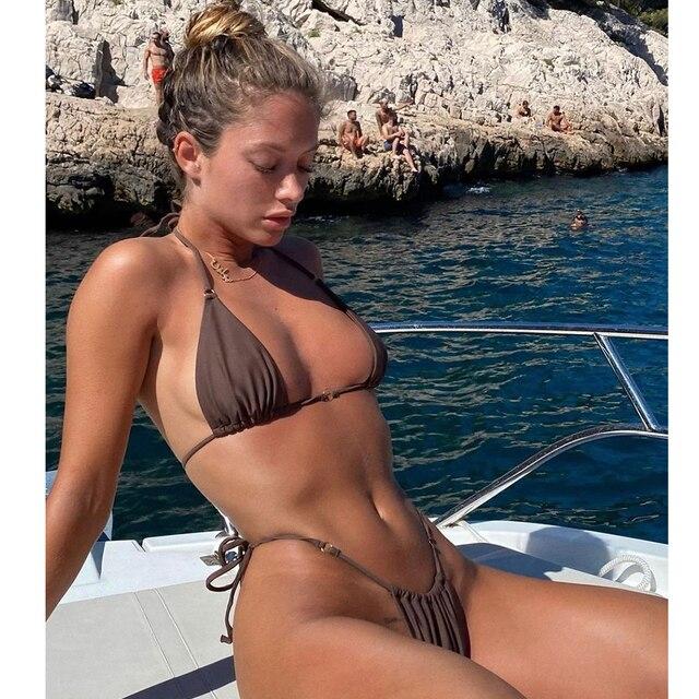 Bikini Swimsuit Halter Push Up Swimwear  2