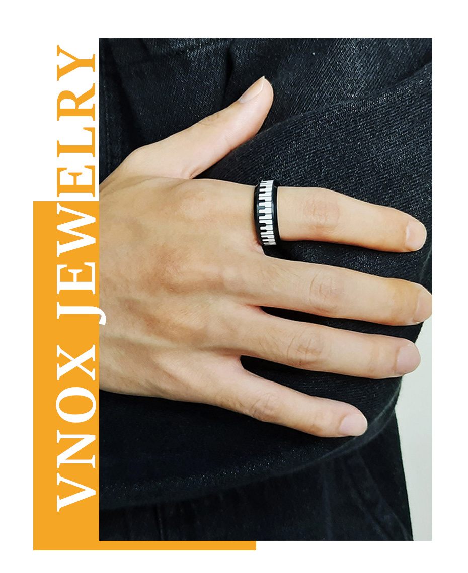 Stylish Piano Ring Stainless Steel Keyboard