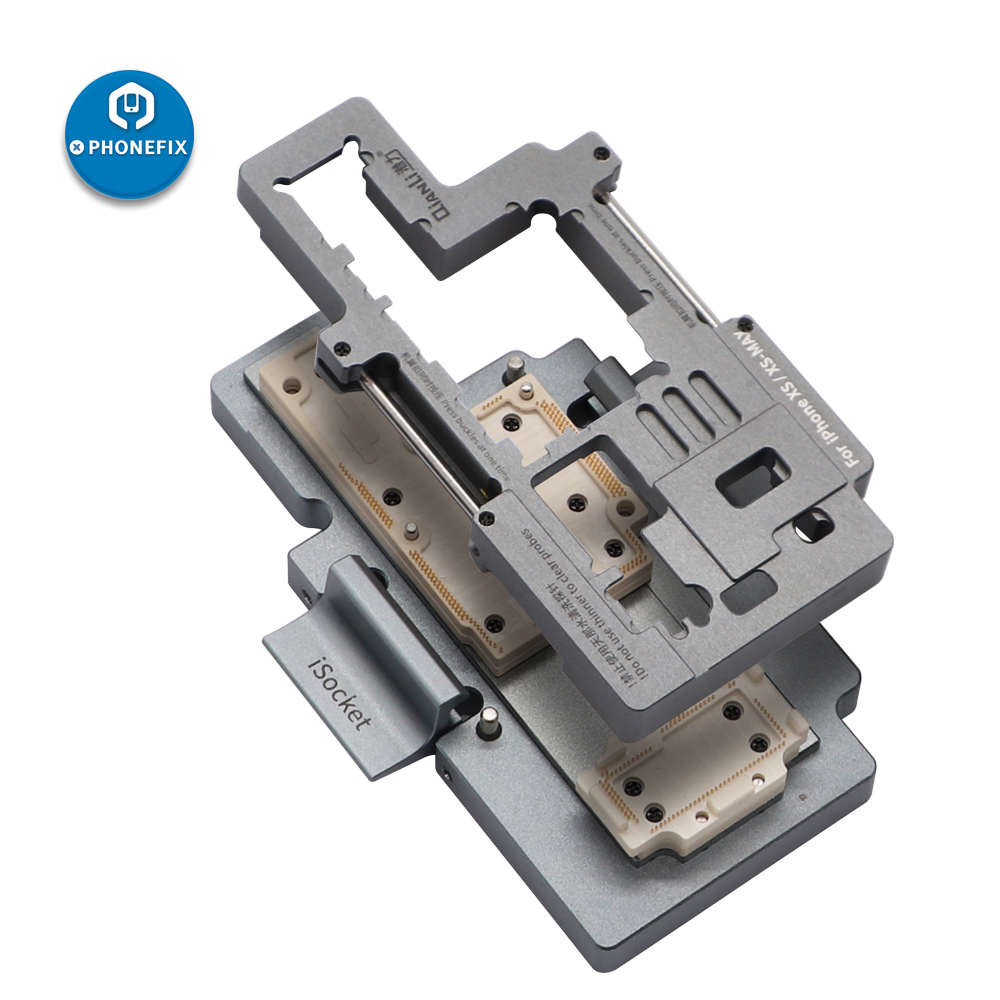 Tools : phone double-stacked logic board disassembly reassembly repair Test Fixture Jig iSocket for iPhone X XS MAX Upper Lower PCB