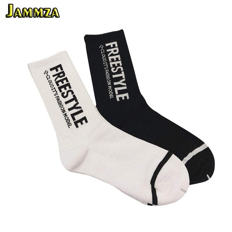 Fashion Harajuku Men Socks Winter Free Style Compression Funny Socks Letter FreeStyle Women Men Unisex Novelty Skateboard Socks