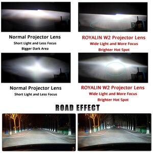 Image 4 - ROYALIN DRL ثنائية زينون مصباح هالوجين عدسة LED عيون الملاك العارض H1 H4 H7 سيارة مصابيح دراجة نارية التحديثية الأبيض هالو خواتم