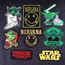 Pulaqi Nirvana Brand Patch Rock Music DIY Embroidered Patches For Clothing Star Wars Letter Badge Applique Stripes F