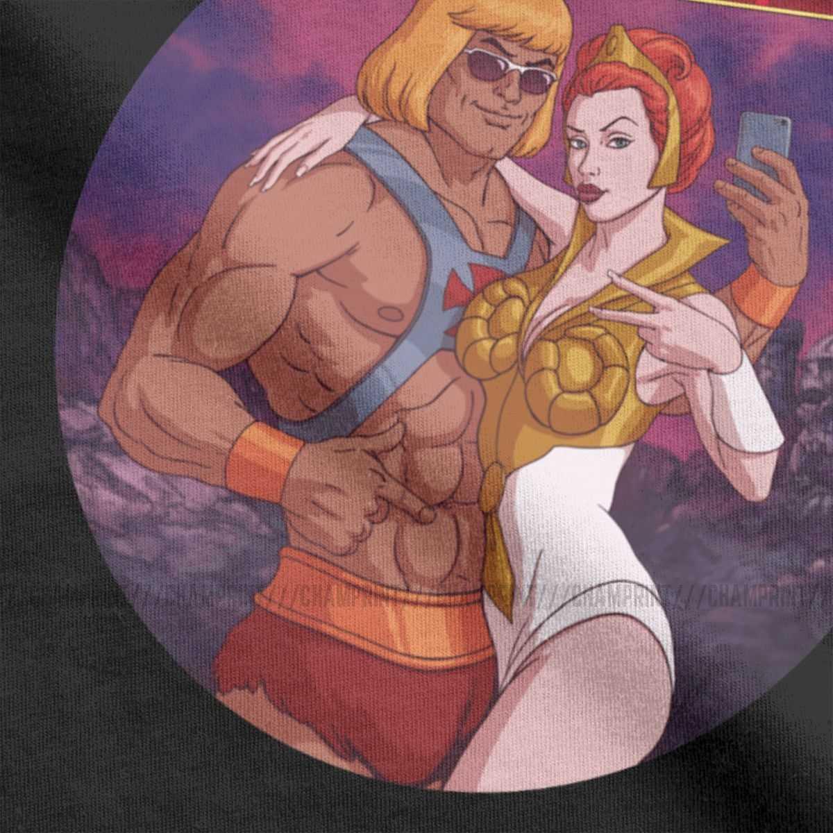 Uomini Douchebags Of The Universe He-Man Masters Of The Universe T Camicia Skeletor 80s Cotone Manica Corta tee Più Il Formato T-Shirt