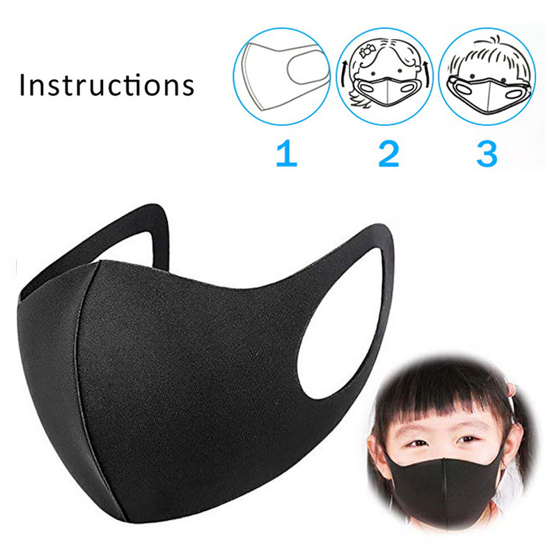 Cotton Dust Mask Face Mask Child Mask PM2.5 Washable Reusable Thickened Respirator Mouth Mask Respirator Protective Mask