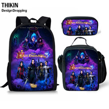 THIKN Hot Descendants 3PCS School Bag Set School Backpack for Teenagers