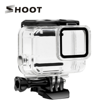 SHOOT Underwater Waterproof Case for GoPro Hero 7 White Silver Diving Protective Housing