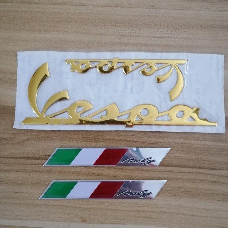 3D Italy Flag Car Stickers Fender Trunk Emblem Badge Sticker Decoration For PIAGGIO Vespa GTS300 LX125 LX150 125 150 Ie Sprint Primavera 300 LX LXV Super Sticker