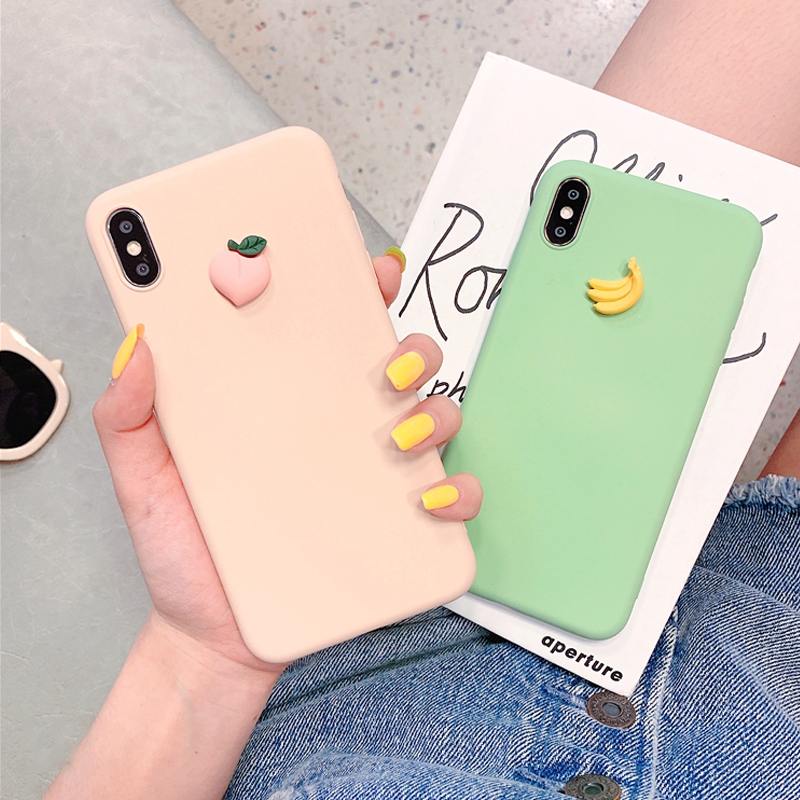 3D Cute Fruit Silicone Case For Samsung Galaxy A70 A80 A60 A50 A40 A30 A20 A10 Back Cover On A 70 50 40 30 M20 M30 Phone Coque