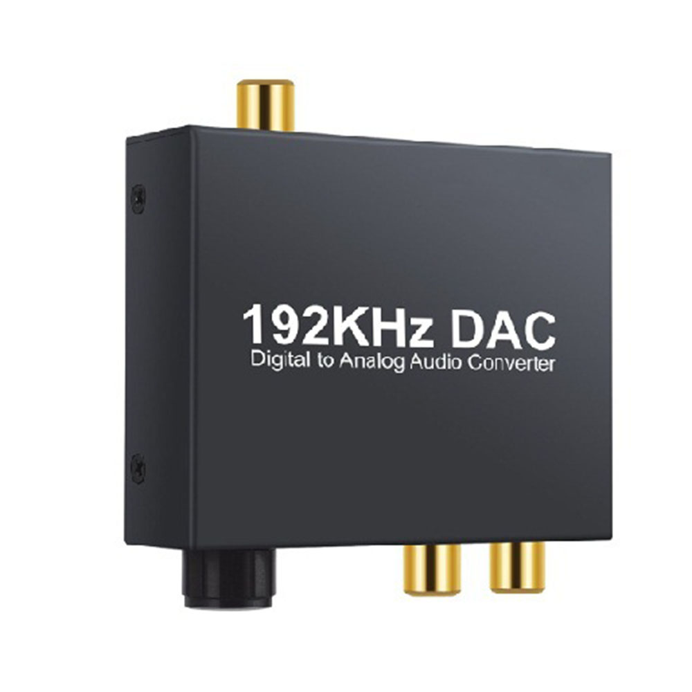 DAC Digital Optical Toslink Coaxial To Analog Audio Converter Adapter L/R RCA CN