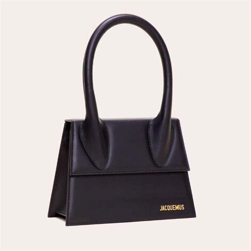 Jacquemus Mini Small Square Bags For Women 2020 New Fashion PU Leather Handbags Designer Crocodile Shoulder Messenger Bag Purse