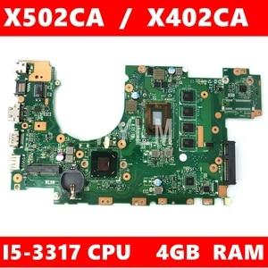 X502CA Motherboard I5-3317CPU 4GB RAM For ASUS X502C X402C F402 X402CA X502CA Laptop motherboard X402CA X502CA Mainboard Test ok(China)
