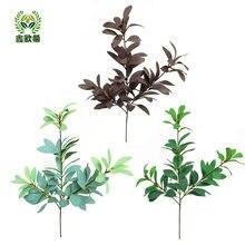 Xin ou grego modelo 3 garfo rhododendron folha osmanthus ramo cena decoração