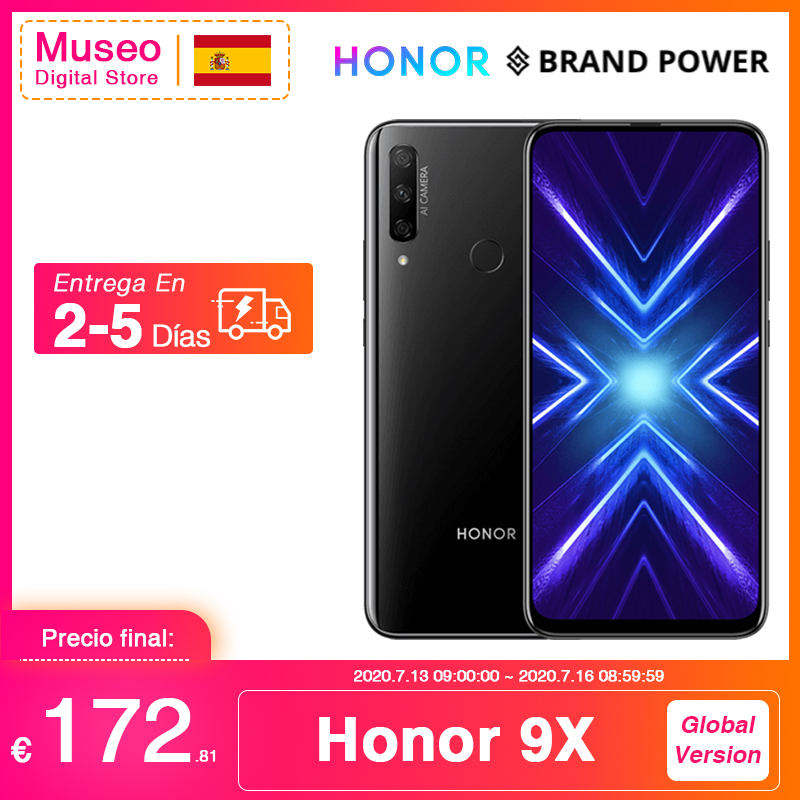 Global Version Honor 9X Smartphone 4G 128G 48MP Triples Camera 6.59'