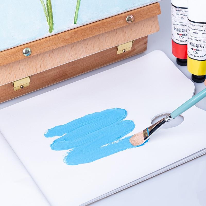 Toner Paper Disposable Palette 36 Sheets 65g/㎡ No-clean Oil Painting Palette Tear Able Oval Hand Hole Palette