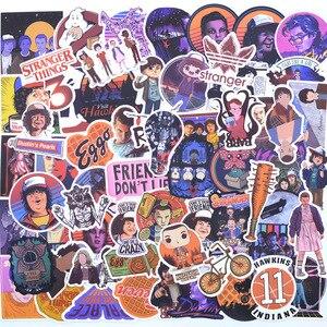 Image 1 - 100 PCS Molto Le Cose Sconosciuto Adesivi Pacchetto. Per i bambini i Ragazzi Sul Computer Portatile Del Frigorifero Del Telefono Bagaglio di Skateboard Film Stanger Sticker