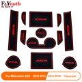 12 шт. нескользящий коврик для межкомнатной двери  коврик для дверных ворот  чехол для Mitsubishi ASX 2013-2018  автомобильные аксессуары  Стайлинг авто...