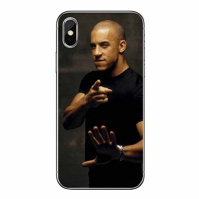 Paul Walker Vin Diesel fast furious 6 Ster Siliconen Shell Covers Voor iPod Touch iPhone 4 4S 5 5S 5C SE 6 6 S 7 8 X XR XS Plus MAX
