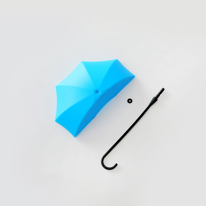 Multi color creative umbrella no trace nail free cute small hook hook door glue hook wall hanging hook 3 piece for a bag in Hooks Rails from Home Garden