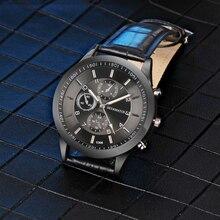 OGY Mens Watches 2019Top Brand Luxury Sport Quartz-Watch Leather Strap Clock Men Waterproof Wristwatch relogio masculino