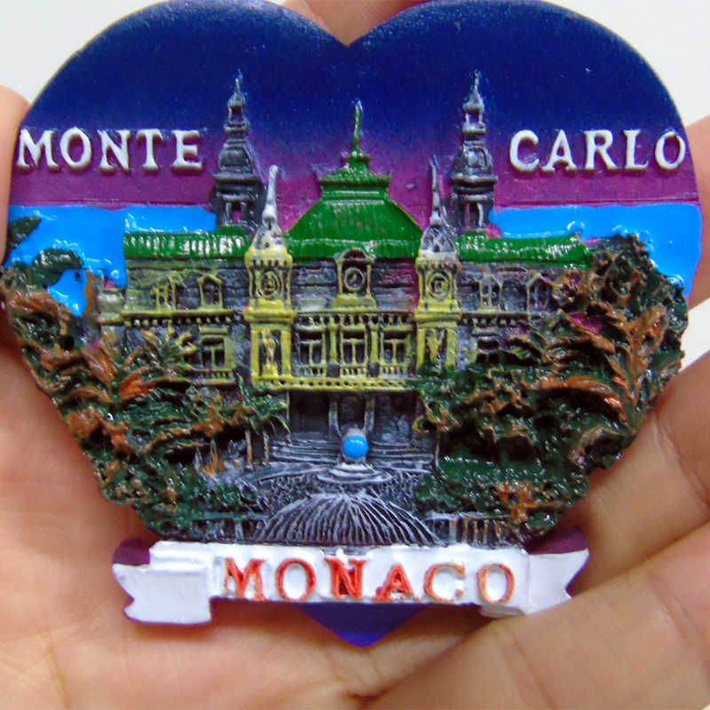 3d Fridge Magnet Monaco Tourist Souvenirs Craft gift Resin Refrigerator Sticker Fridge Magnets Stickers Refrigerator Decoration