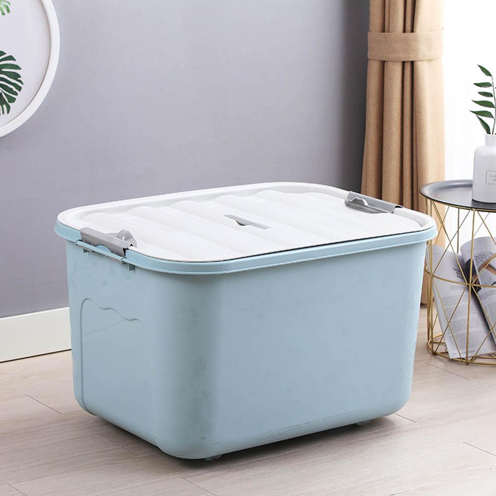 Home Solid Color Plastic Quilts Clothes Sundries Storage Box Container Organizer Large Capacity, You Can Place Clothes, Sundries