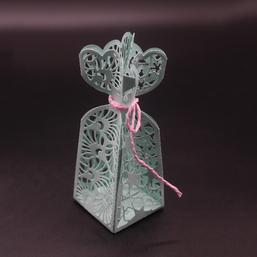 Gift Box 18.7x15.7CM Silver Metal Cutting Dies Cards DIY Scrapbooking Craft Embossing Plate