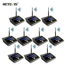10 Uds. RETEVIS RT57 sistema de intercomunicación inalámbrico para interiores, sistema de llamadas de negocios, Radio de escritorio bidireccional para oficina/hogar