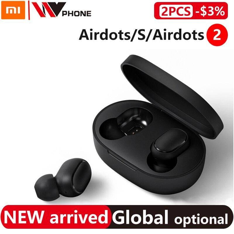 Xiaomi airdots 2 tws redmi airdots s tws sem fio fone de ouvido controle voz bluetooth 5.0 redução