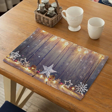 Christmas Style Dining Table Placemat Napkin Kitchen Tool Tableware Pad Coaster Coffee Tea Party Decorations Rectangular