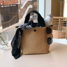 Capacidade sacos de palha mulheres artesanal tecido cesta bolsa tote verão boêmio sacos de praia marca luxo lona senhora bolsas 2020 novo