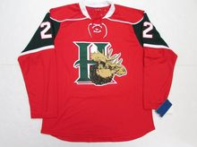 HALIFAX MOOSEHEADS-RED-22-NATHAN-MacKINNON-Hockey-Jersey-Embroidery-Stitched-Customize-any-number-and-name-Jerseys(China)