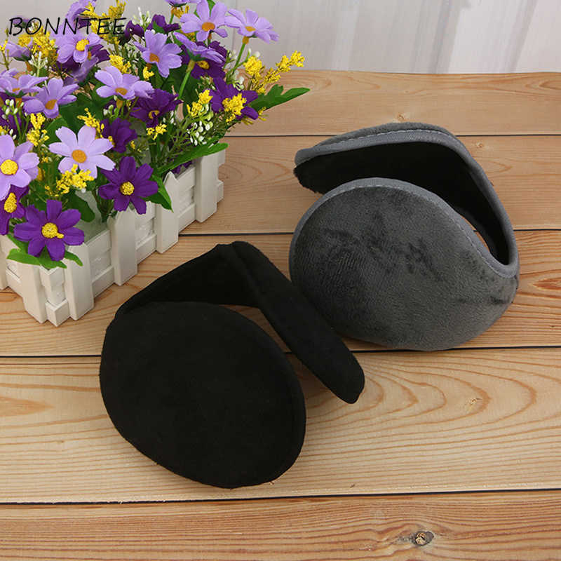 Earmuffs Women Unisex Simple All-match Solid Winter Warm Thicker Plush Elegant Womens Earmuff Korean Style Leisure Retro Trendy