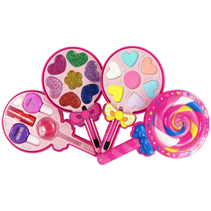 Kids Make Up Toy Set Lollipop Dressing Cosmetics Princess Girls Toys Plastic Safety Beauty Pretend Play For Children Makeup Gift