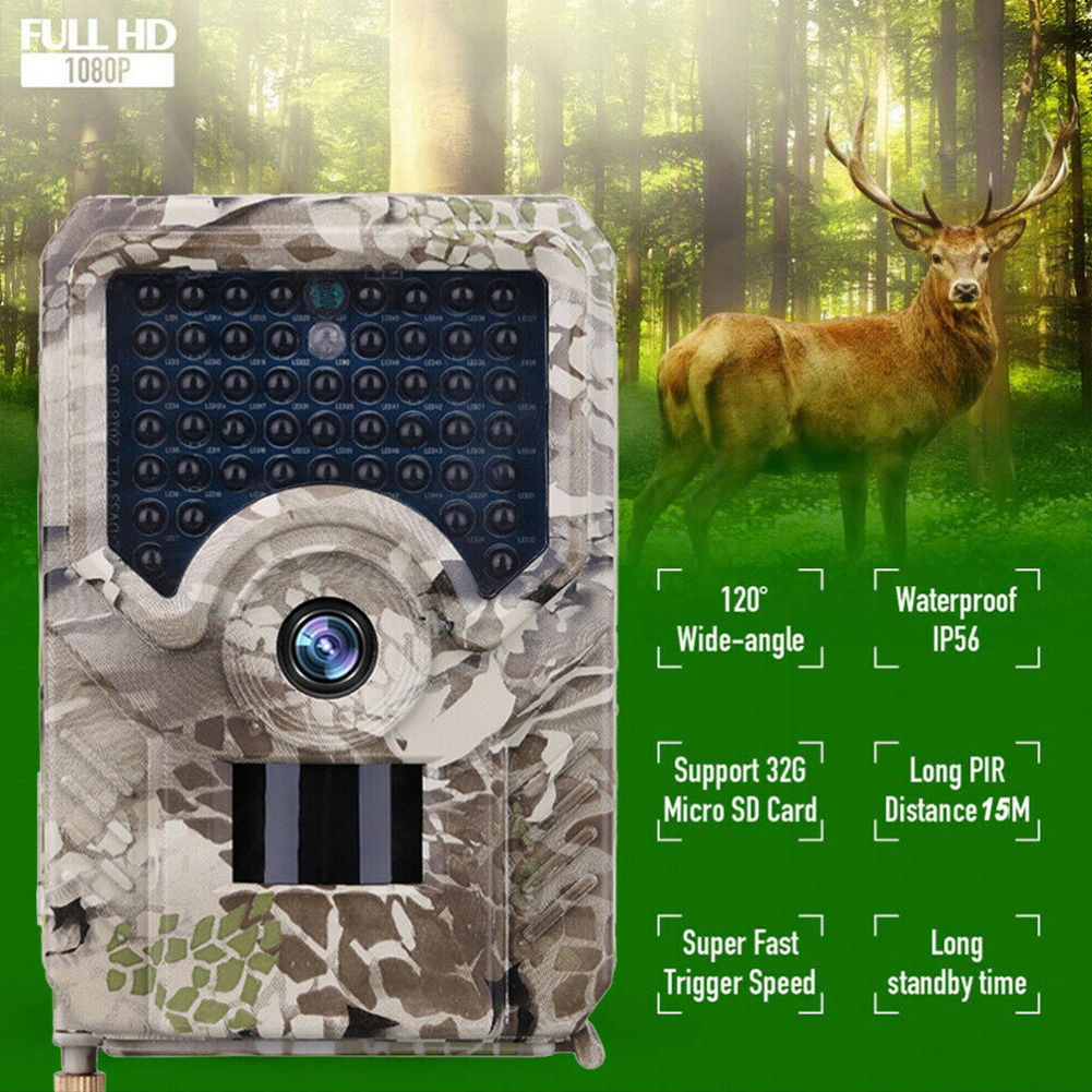 <font><b>PR200</b></font> Trail Camera 49pcs 940nm infrared LED Hunting Camera 12MP Waterproof Wildlife Video Camera Night photo traps scout image