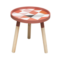 Small Fresh Mini Coffee Tables Creative Pine Low Round Tables Living Room Home Furniture Home Decoration Accessories