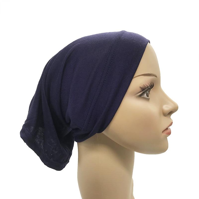 Modal Women Muslim Head Scarf Cotton Underscarf Stretch Hijab Cover Headwrap Underscarf Cap Islam Scarf Inner Headband Bonnet