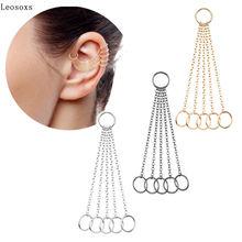 Leosoxs 2 шт Новые 5 шт/упаковка цепи серьги кольцо слуховая