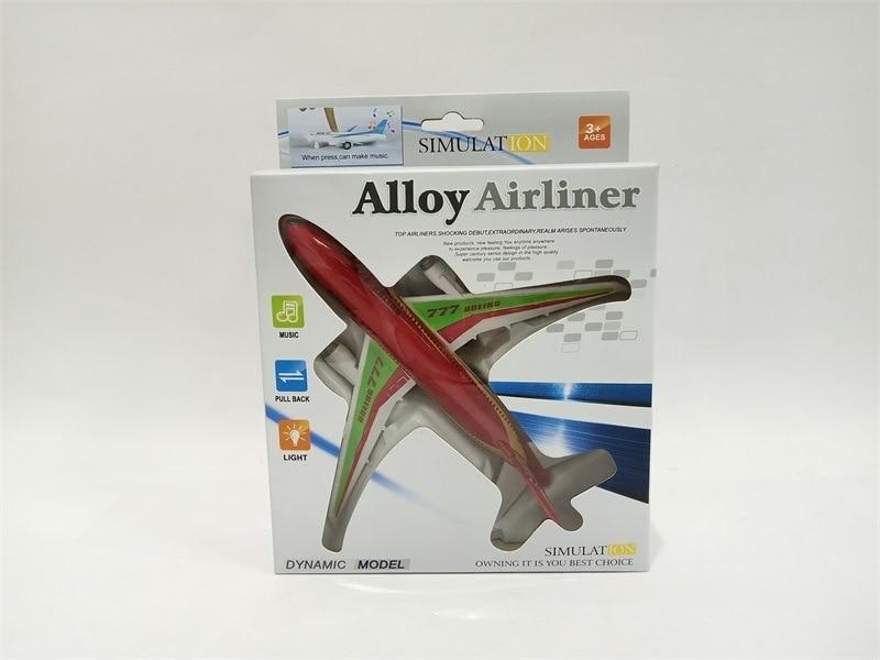 Alloy Warrior Airplane Warrior Sound And Light Superjumbo Model Ornaments Boy CHILDREN'S DAY Gift CHILDREN'S Toy