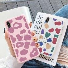 Mode Rosa Leopard Druck Fall Für Samsung Galaxy Note S20 S21 20 Ultra FE A20E A40 A50 A50S A30S A51 a21S S10 E Plus Pro Lite