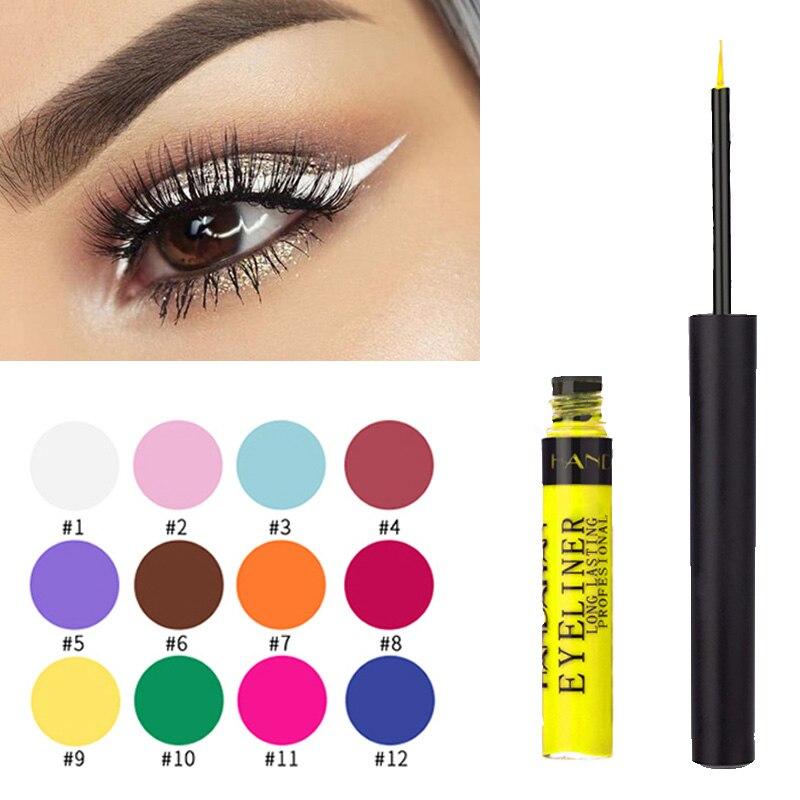 HANDAIYAN Colorful Liquid Eyeliner Matte Tint Quikly Dry Waterproof Liquid Eye Liner Brown Color for Women Girls Makeup TSLM2