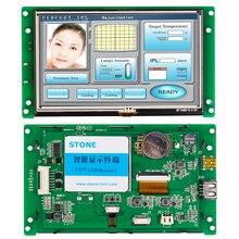 Display lcd hmi com controlador programável e tela sensível ao toque + interface de série uart